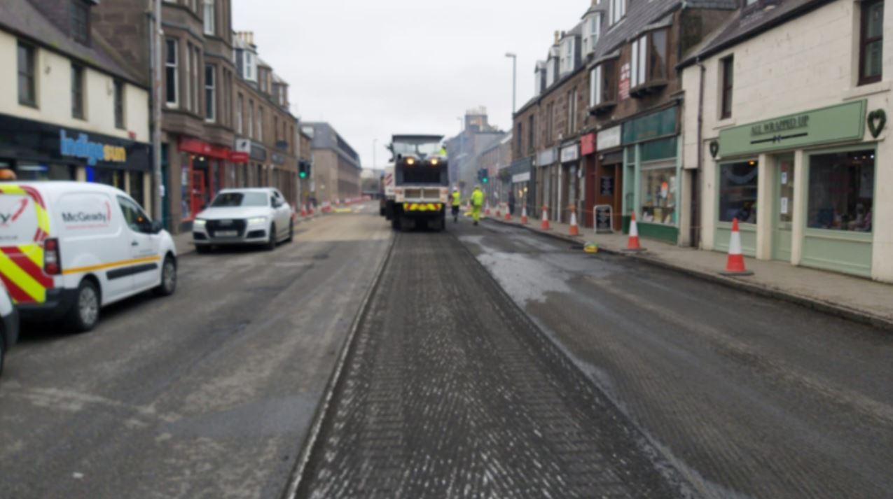 The roadworks on Allardice Street started today