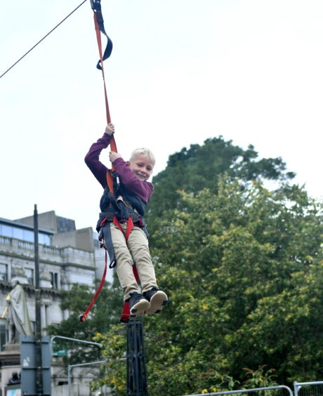 Jack West on the zip wire