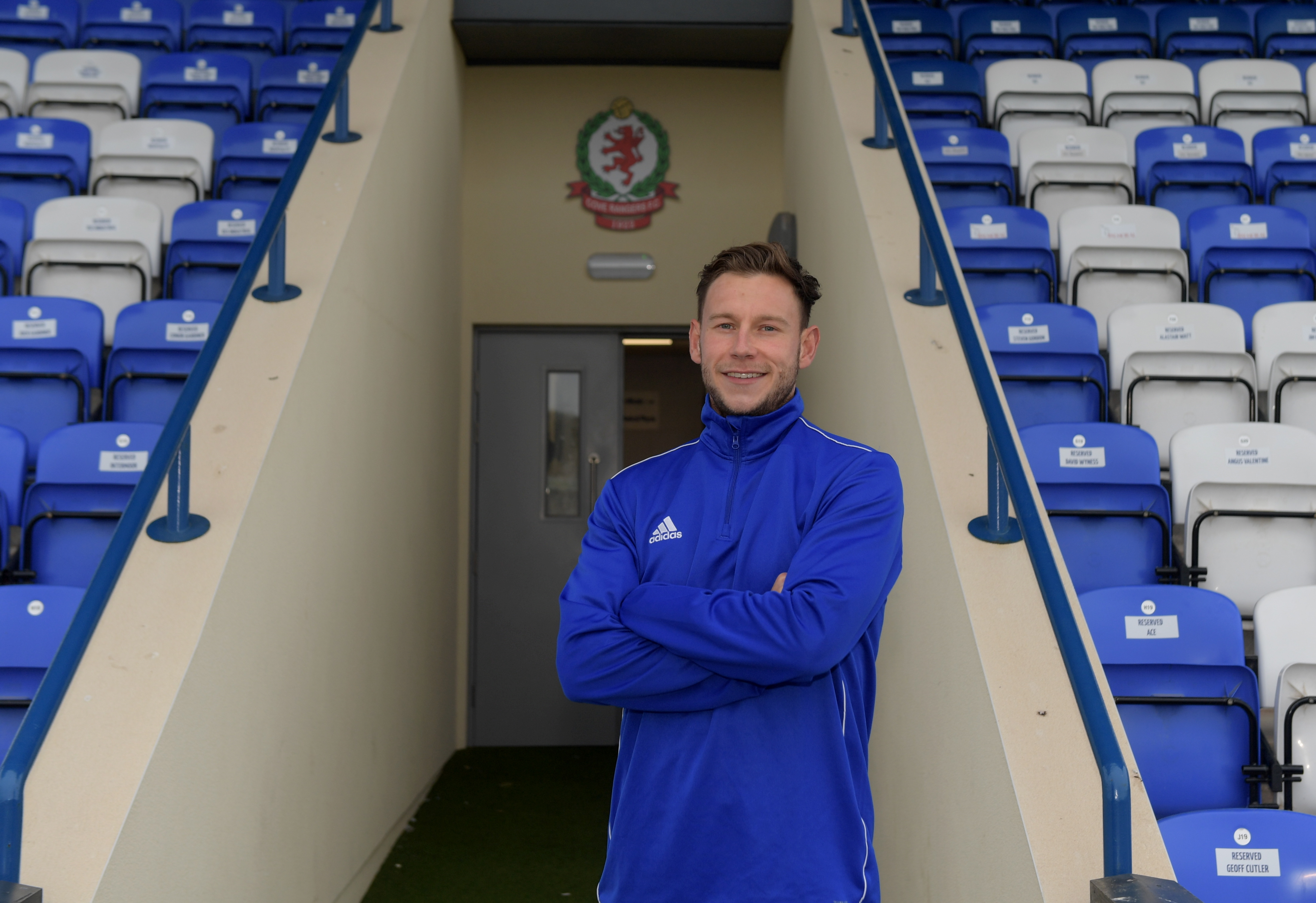 Cove Rangers captain Mitch Megginson limped out of the warm-up at Borough Briggs.