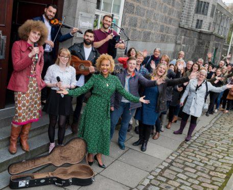 Emile Sande's Street Symphony was premiered  at the Aberdeen Lemon Tree