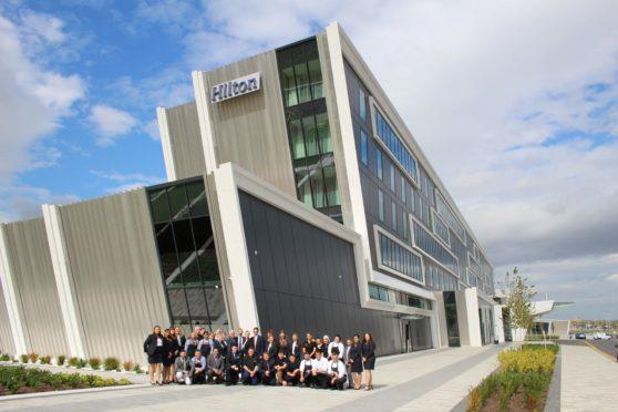 Staff at Hilton Aberdeen TECA and Aloft Aberdeen took part in the triathlon.