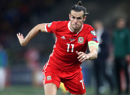 Wales' Gareth Bale in action
