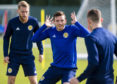 Scotland's Andy Robertson during training.