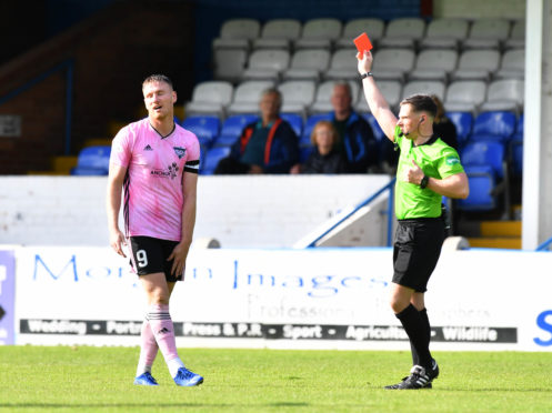 Rory McAllister sees red for ref Lloyd Wilson