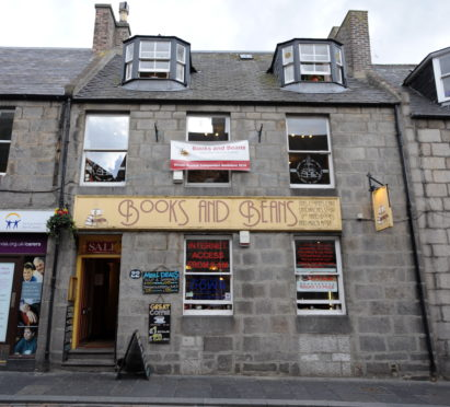 Books and Beans on Aberdeen's Belmont Street
