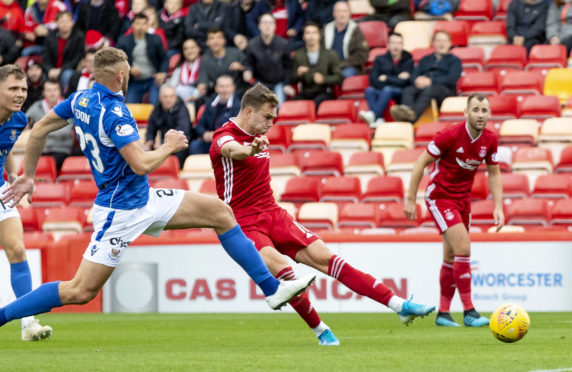 Ryan Hedges scores for Aberdeen