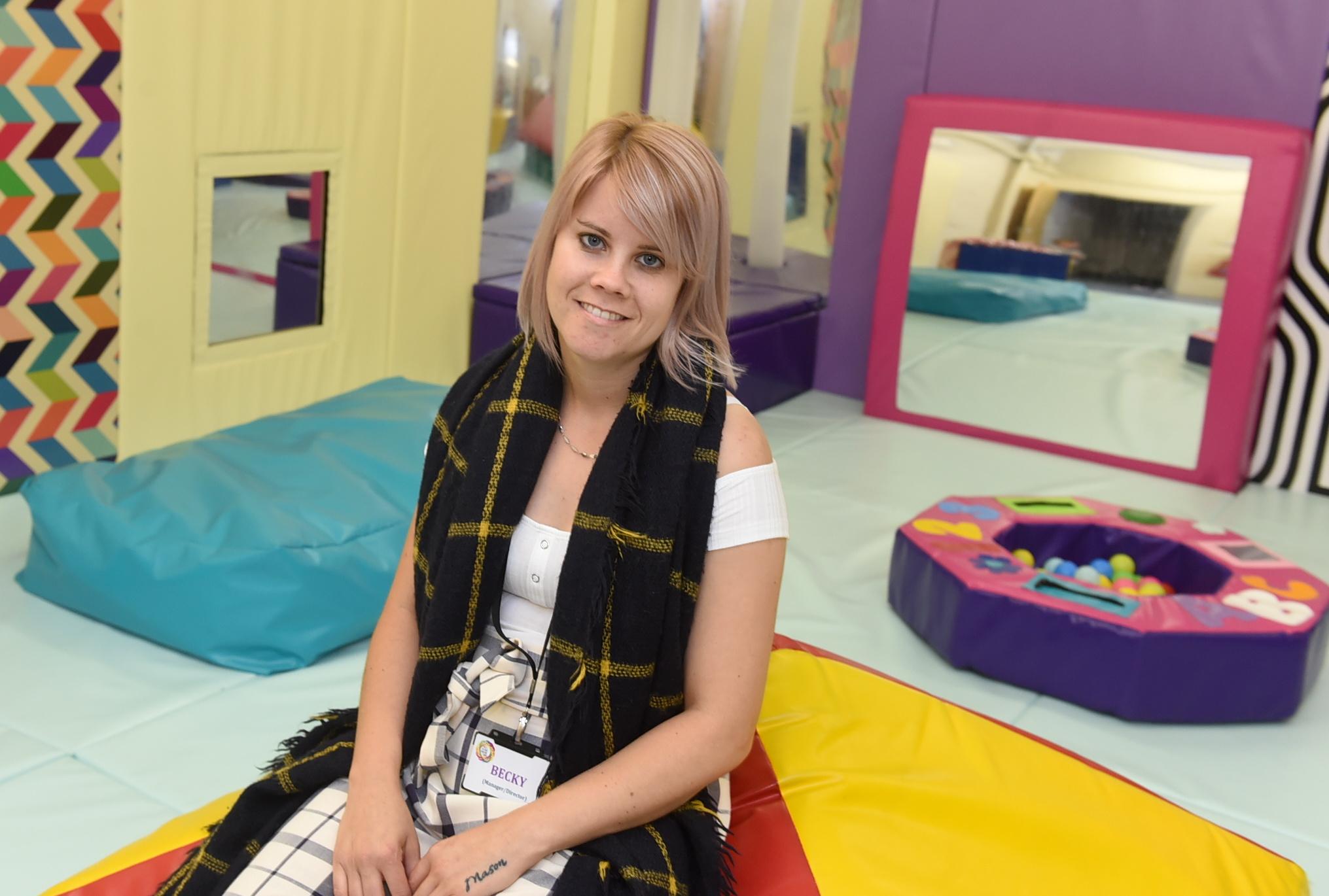 Founder Becky Mennie at BECS Inverurie