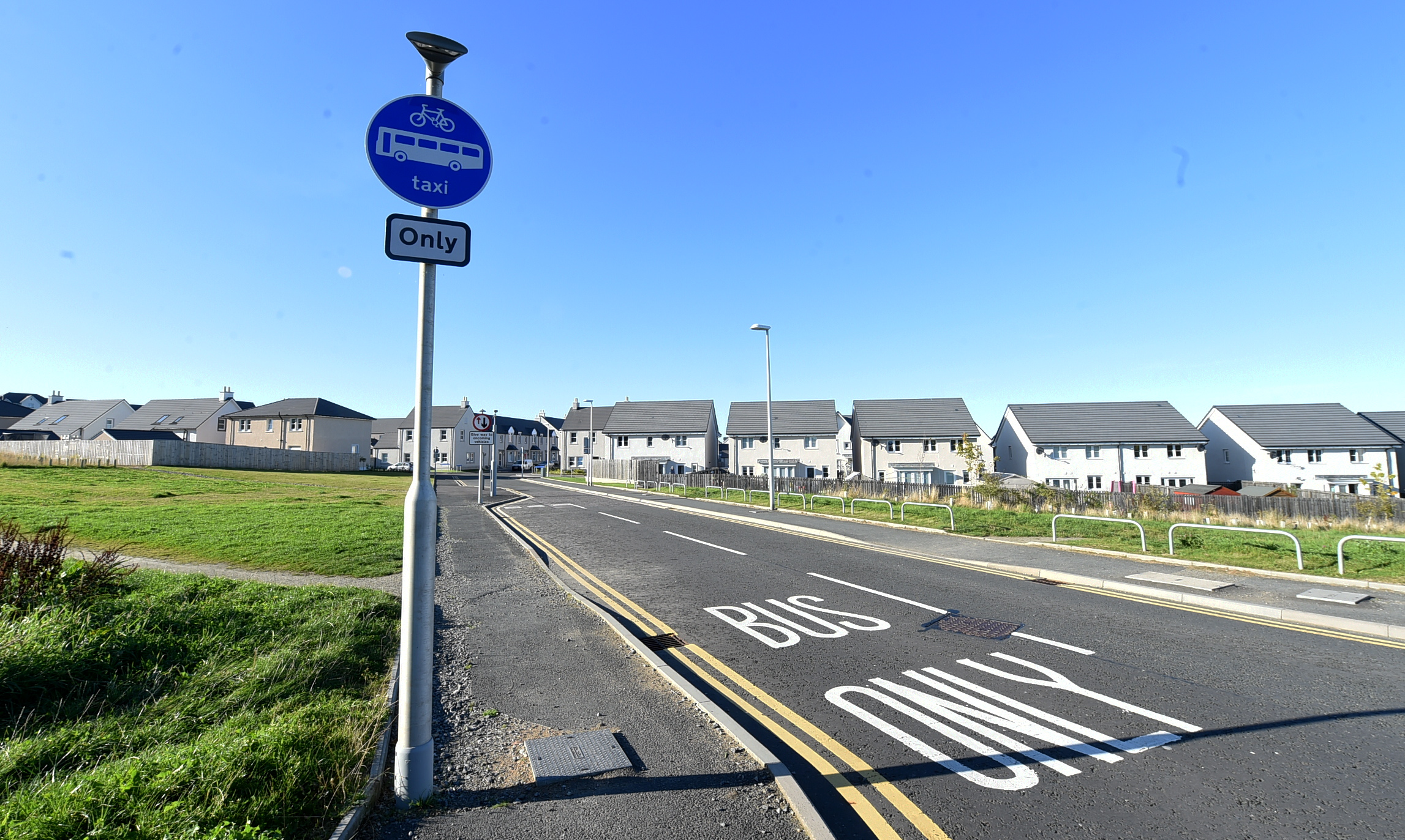 The Dubford bus gate was introduced in June 2016 to deter people from cutting through a development