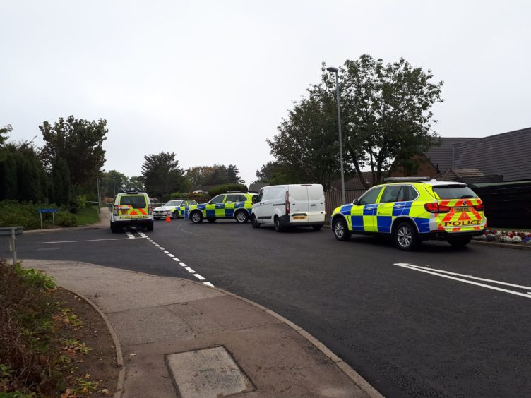 Emergency services on Fintray Road