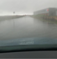 The road from Fraserburgh to Rosehearty on Saturday morning. Credit: Sebastian Rennie