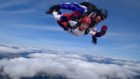 Sophie Reid and Raymond Peeble took part in the skydive