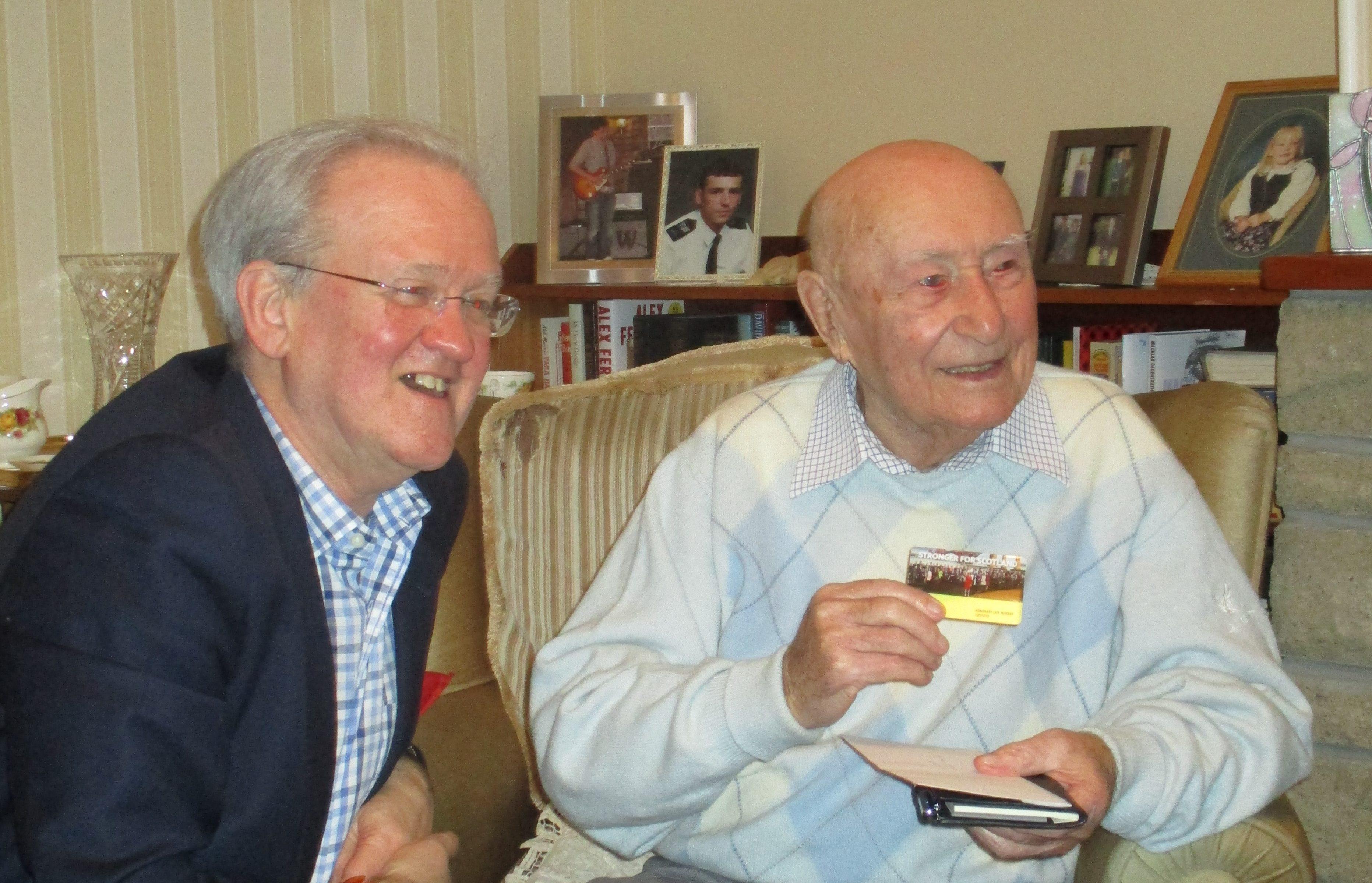 Stewart Stevenson with Bob Ritchie