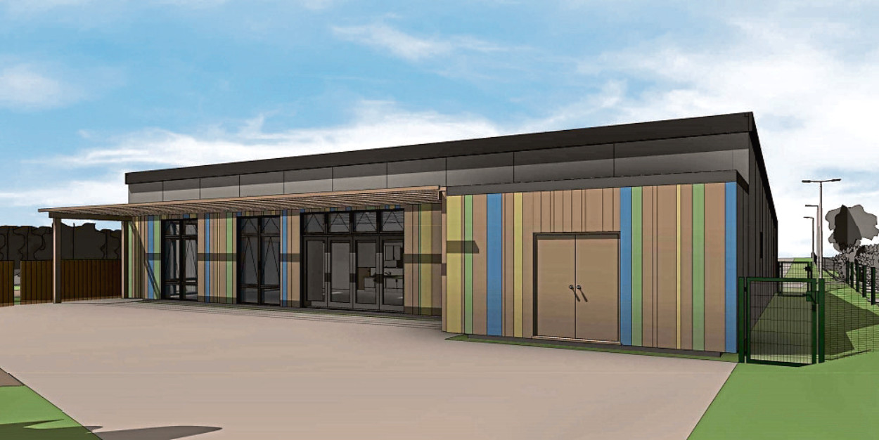 An artist's impression of how the Fishermoss Primary School could look if planning permission is granted