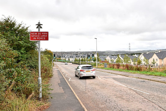 The speed limit on Whitestripes Avenue in Bridge of Don is now 30mph