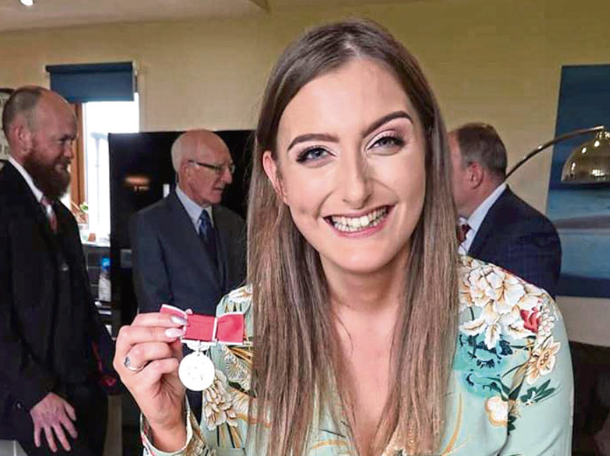 Emily Findlay has worked tirelessly for charity, despite her own health problems, and was awarded the British Empire Medal