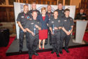 The fire crew from Aberdeen meets First Minister Nicola Sturgeon