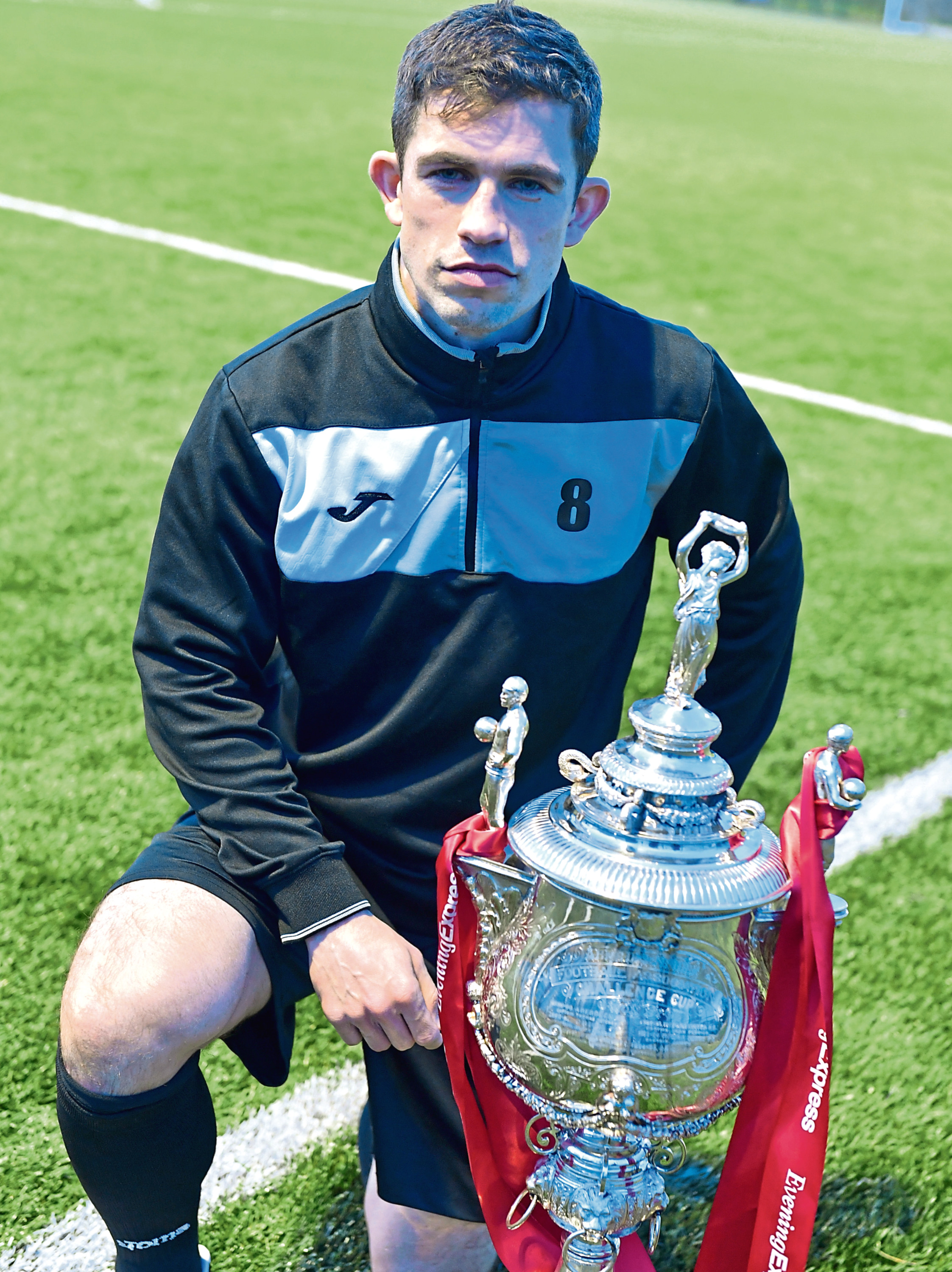 Fraserburg's Willie West with the Evening Express Aberdeenshire Cup