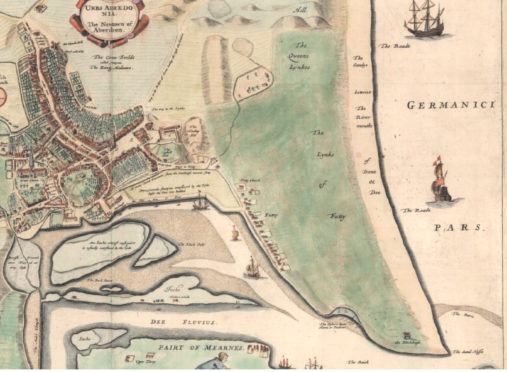 Close up of the Links from Parson Gordon's Map, 1661 Reproduced with the permission of the National Library of Scotland