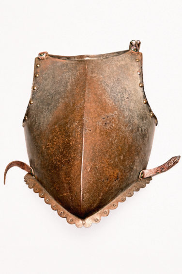 Parts of a suit of armour, possibly dating to the 1500s or 1600s. Aberdeen City Council (Museums & Galleries collections)