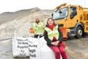 Councillor Sandra Macdonald and roads supervisor Steve Milne. Picture by Scott Baxter