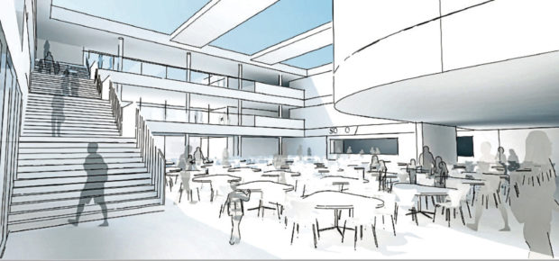 An artist's impression of how the new community campus in Peterhead may look.