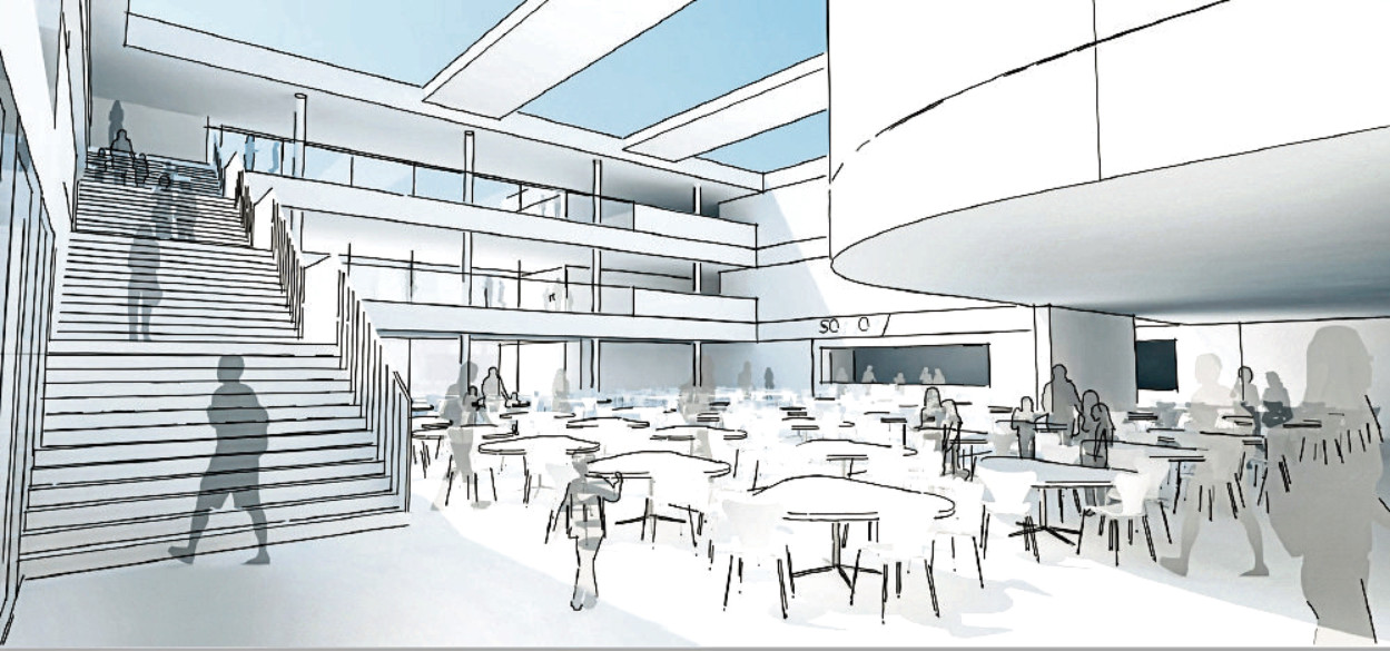 An artist impression of the new Peterhead Community Campus