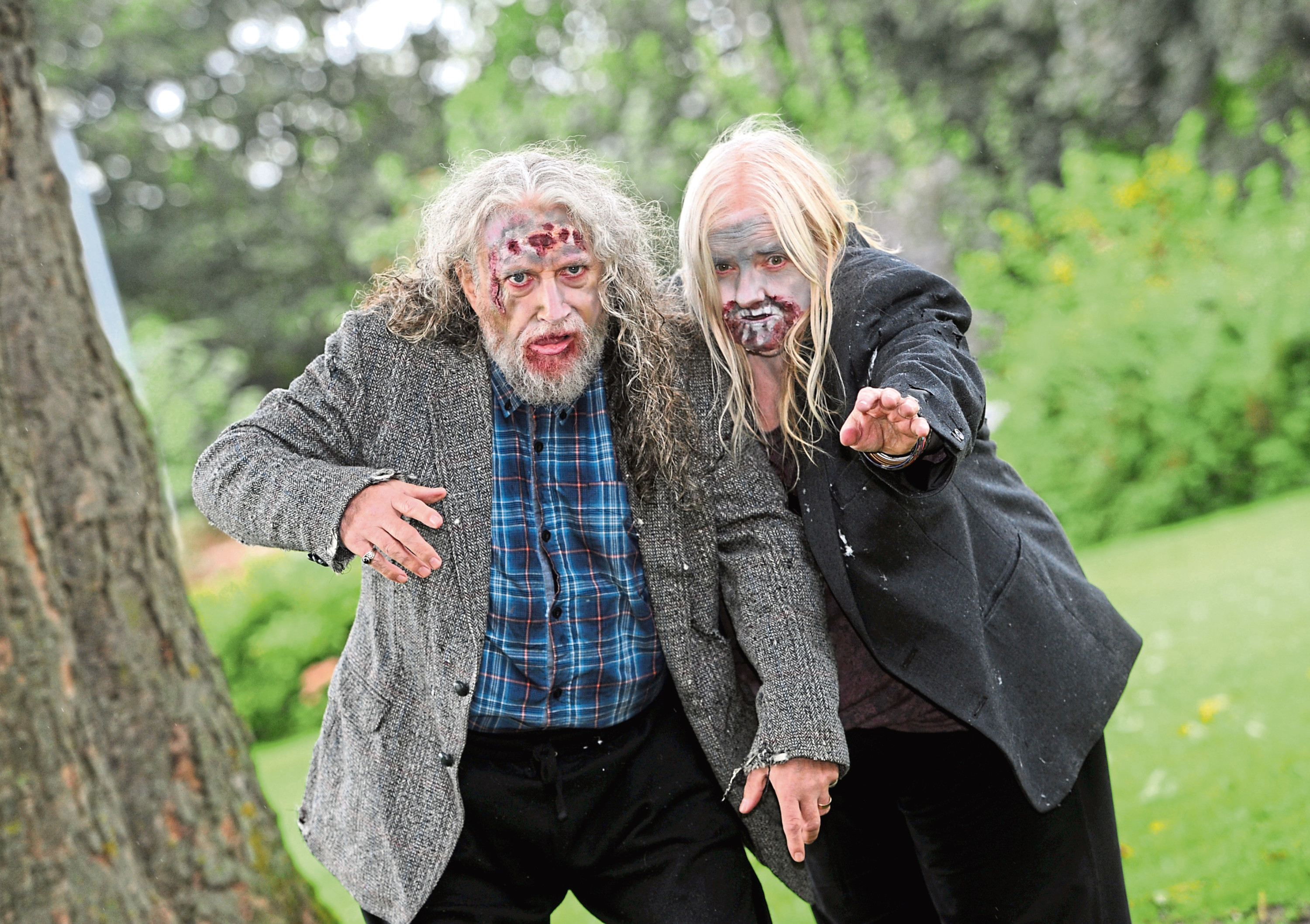 Chris and Annie Begg from 'Quids In' theatre company are looking for actors to take part in the Zombie Apocalypse