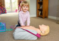 Emerie-May learns CPR