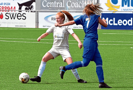 Eilidh Shore, left, is one of those who has had international recognition. Picture by Kenny Elrick