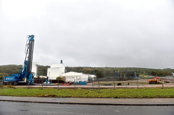 Preparatory works on Aberdeen's new incinerator are under way