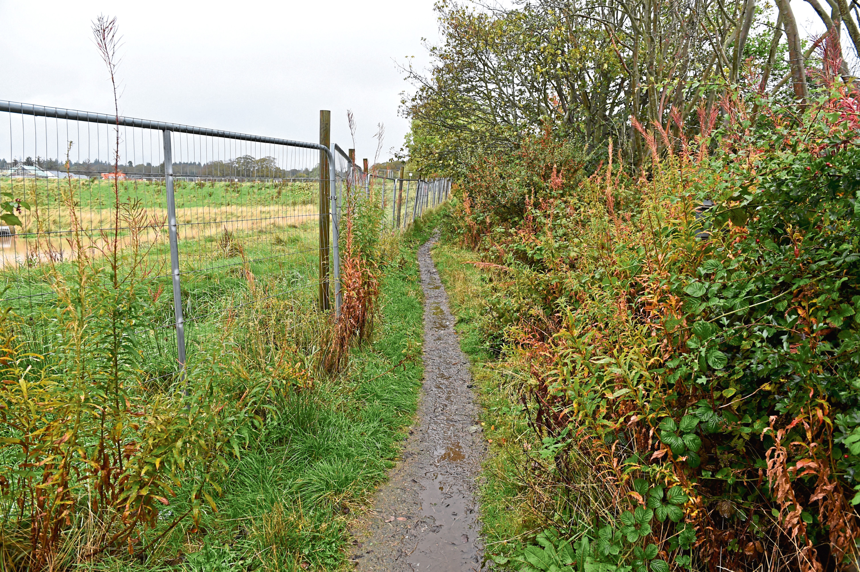 The paths around the development are meant to be improved but concerns have been raised that this is not happening