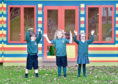 Mallku, Kaedee and Poppy of Udny Green Primary School.
