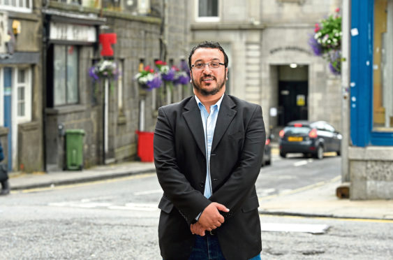 Syrian refugee Omar Al Hmdan is grateful for the kindness he has received in Aberdeen
