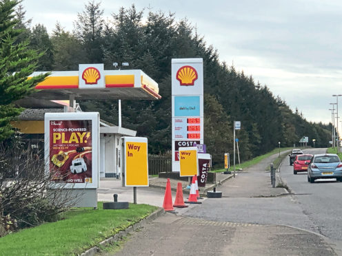 A masked robber targeted the Shell petrol station on Wellington Road, leaving an employee shaken
