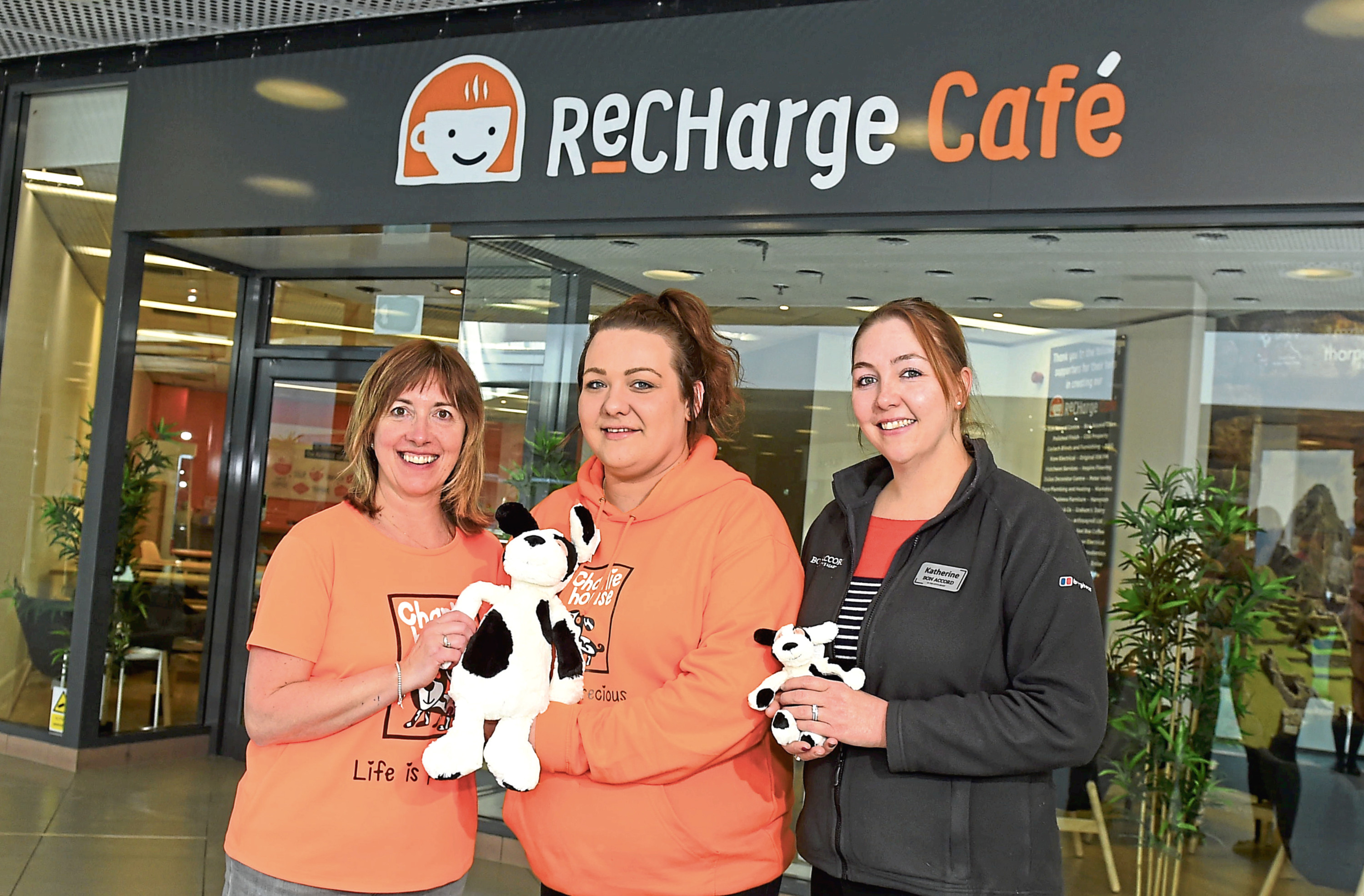 From left, Susan Crighton, Laura Yeats and Katherine Williams at ReCHarge cafe