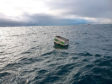 The Farmfoods freezer was found floating in the sea two miles off the coast of Aberdeen