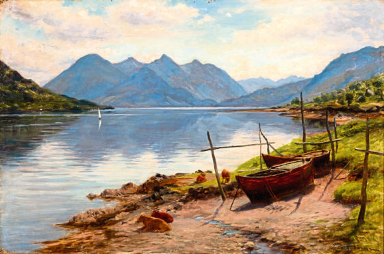 Loch Duich and the Five Sisters by Joseph Farquharson