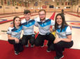 Scotland's World Mixed Curling Championship team. From left, Katie McMillan, Mark Taylor, Skip Luke Carson and Vice Skip Kirstin Bousie.  Picture by Kath Flannery