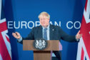 UK Prime Minister Boris Johnson in Brussels