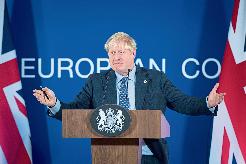 UK Prime Minister Boris Johnson in Brussels