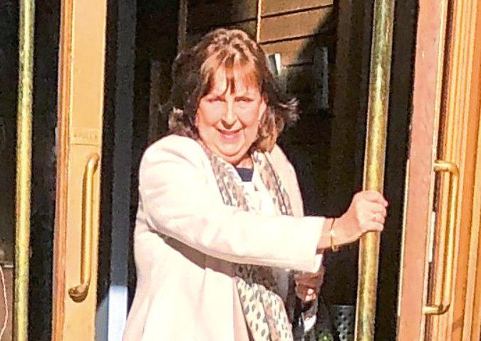 Fiona Inkster leaving Aberdeen Sheriff Court after admitting careless driving