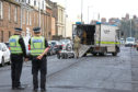 The scene of the incident at Bridge Street in Montrose