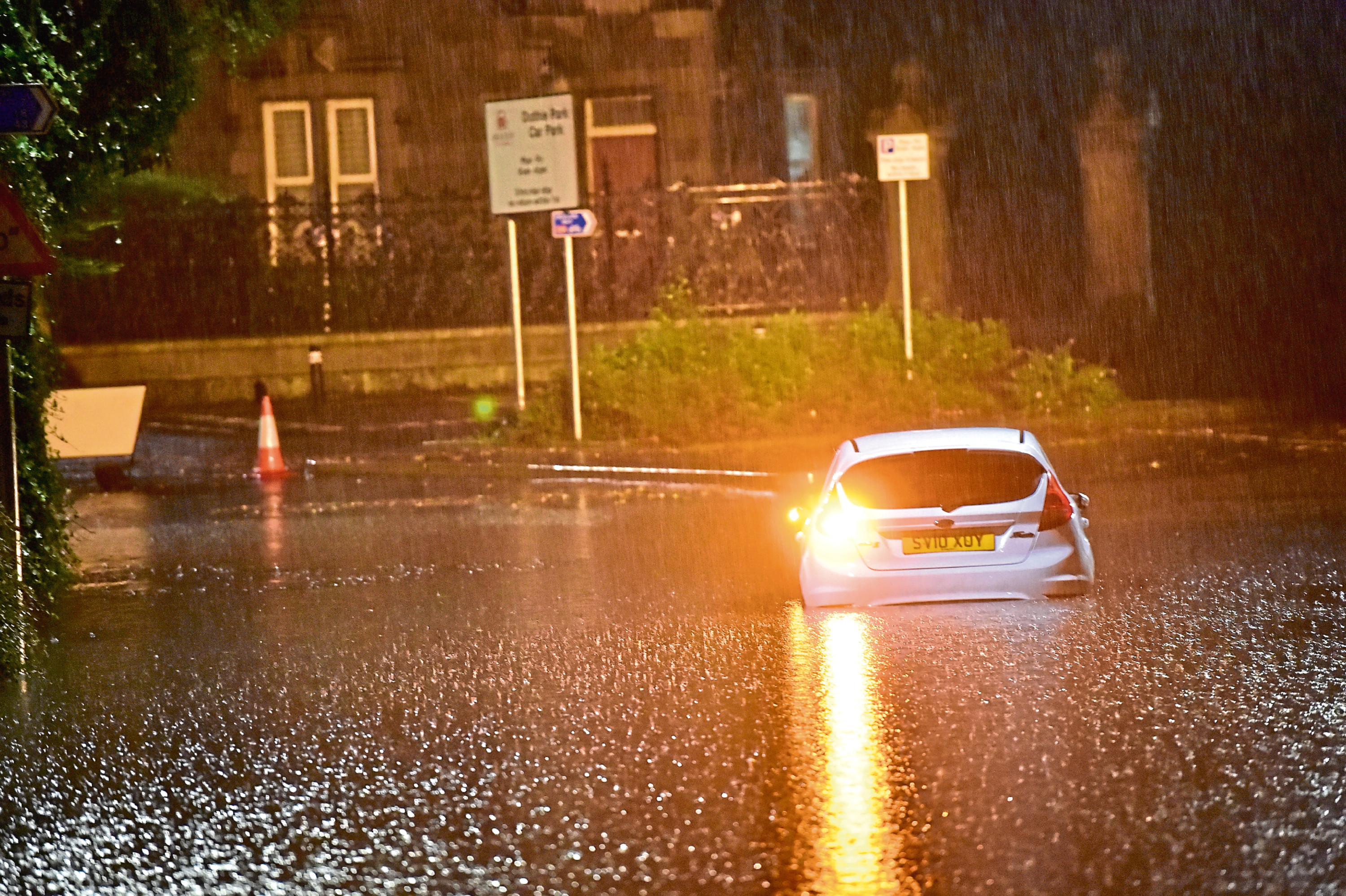 Flooding on Polmuir Road. Picture by Scott Baxter