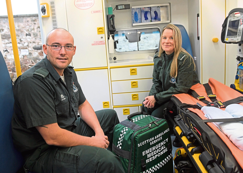 Paramedics Ewan Littlejohn and Wendy Duncan will feature on Paramedics On Scene