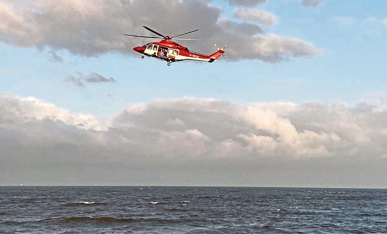 Emergency services at Aberdeen beach