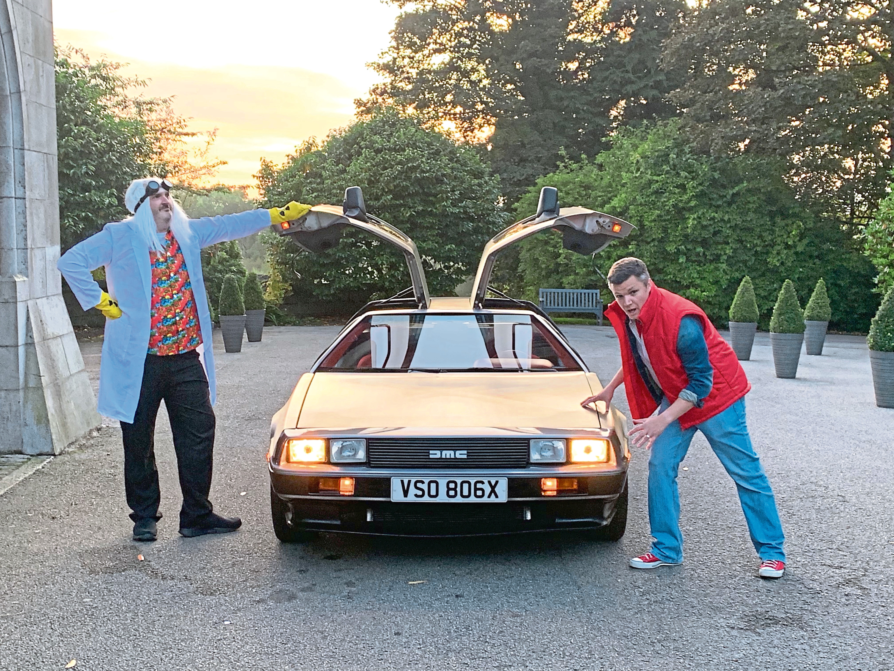 """The famous DeLorean and """"Marty and Doc Brown""""  coming to the Me Too! charity ball"""