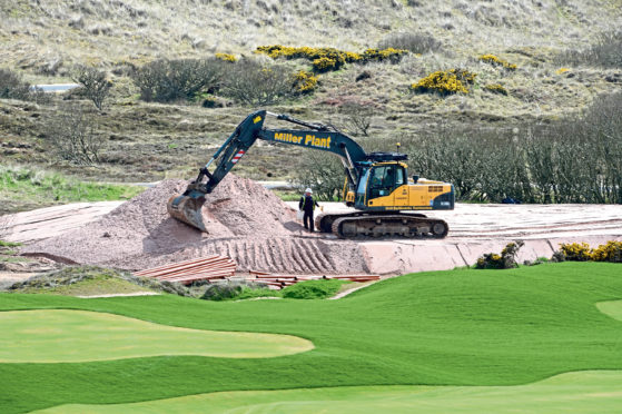 The site of Donald Trump's golf course at Menie may lose its Special Site of Scientific Interest (SSSI) status