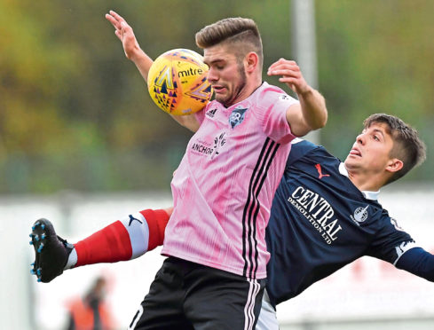 Jack Leitch returned against Falkirk.