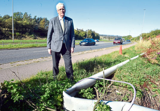 Ian Mollison has been calling for safety barriers on the A92 at Newtonhill