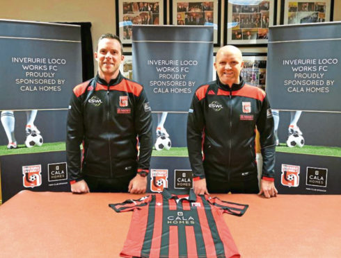 New Inverurie Locos boss Andy Low, right, and assistant Steven Park.